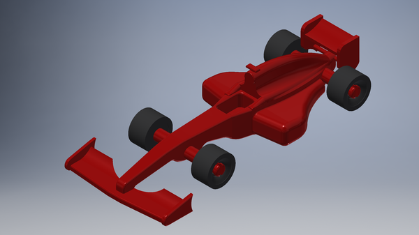 Medium Toy F1 Car 3D Printing 184311