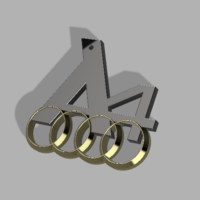 Small Audi A4 Logo 3D Printing 184352