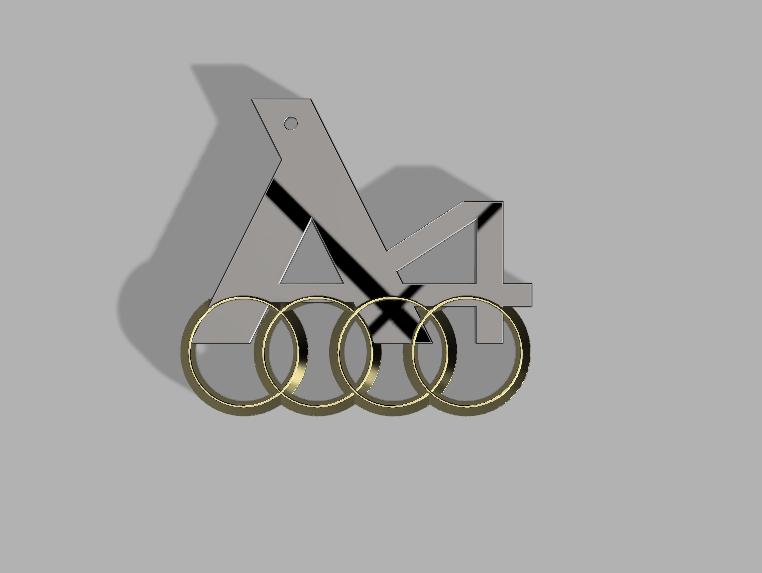 логотип audi stl