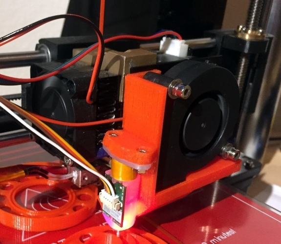 Migbot Cooling Duct with BLTouch Holder 3D Print 184362
