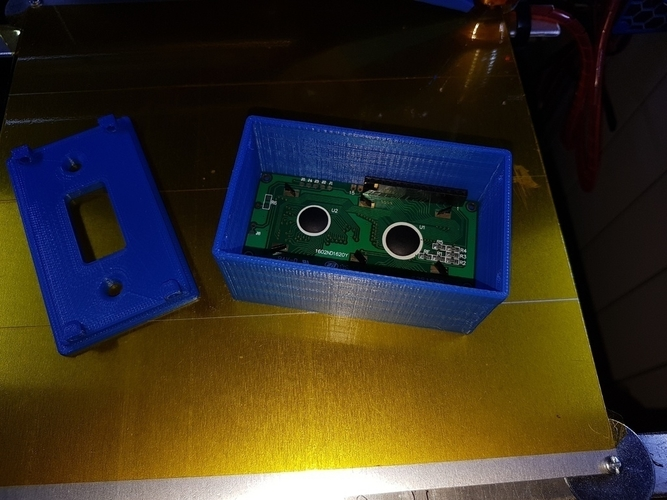 Thermostat LCD 2x16 Case 3D Print 184372