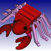 Small Lobster 3D Block Zoo 3D Printing 184446