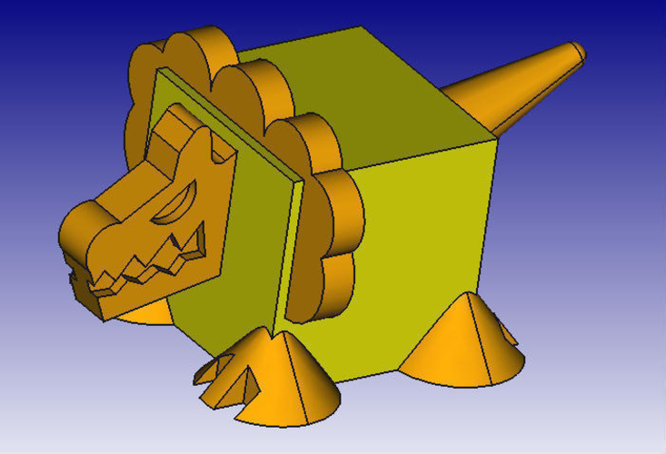 Lion 3D Block Zoo 3D Print 184450