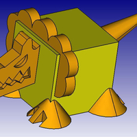 Small Lion 3D Block Zoo 3D Printing 184450