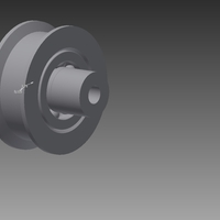 Small Idler pulley Rostock Max 3D Printing 184567