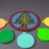 Small Bookhouse Boys Badge Keychain 3D Printing 1846