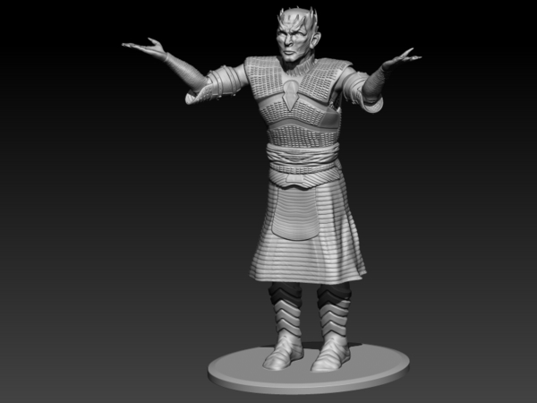Medium Night King standing 3D Printing 184717