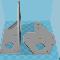 Small Tronxy x1 bracket set  3D Printing 184765