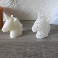 Small Unicorn - Low Poly / Voronoi 3D Printing 184786