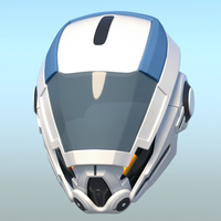 Small Mass Effect Andromeda cosplay helmet 3D-printable 3D Printing 184853