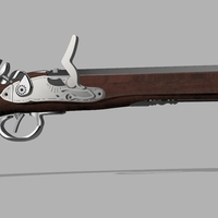 Small Flintlock Pistol 3D Printing 184928