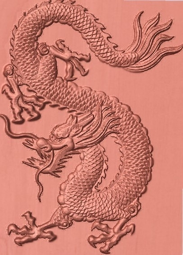 Dragon 3d bas-relief 3D Print 185001