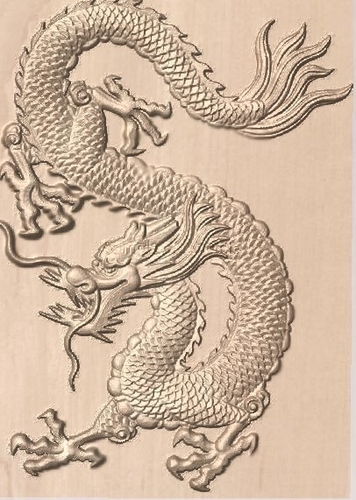 Dragon 3d bas-relief 3D Print 185002