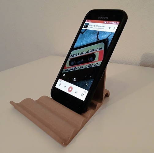 Universal Tablet & Smartphone Wave Stand 3D Print 185075