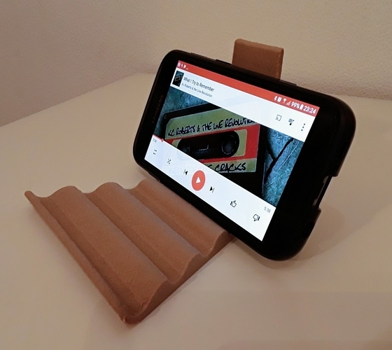Universal Tablet & Smartphone Wave Stand 3D Print 185076