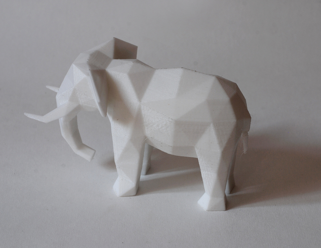 Low Poly Elephant Art Sculpture 3D Print 18519