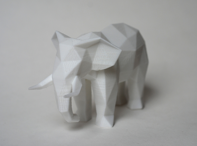 Low Poly Elephant Art Sculpture 3D Print 18520
