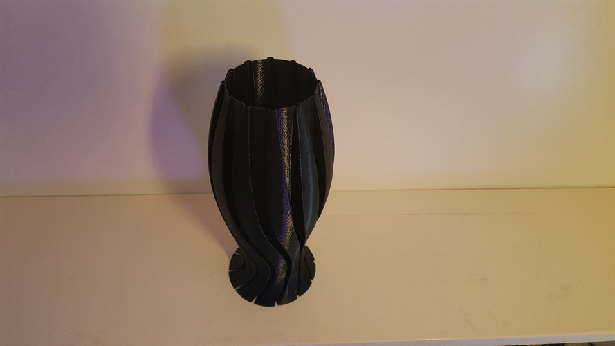 Wave Carved lamp 3D Print 185407