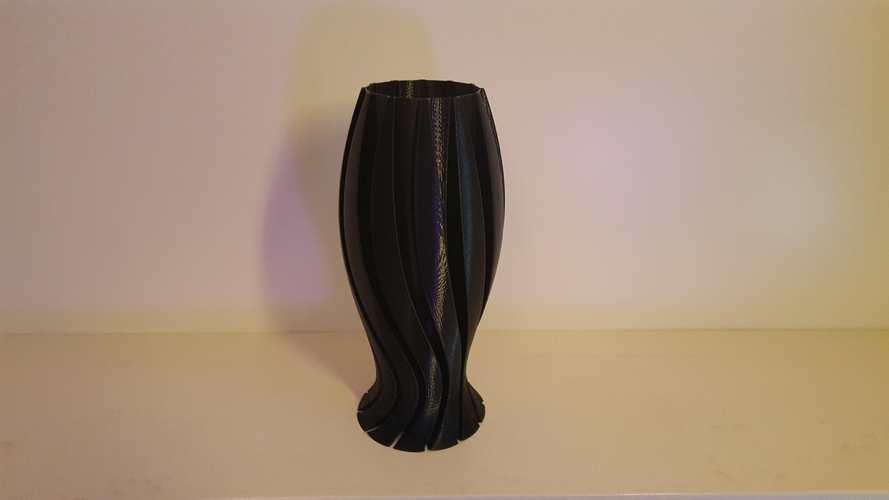 Wave Carved lamp 3D Print 185408
