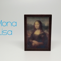 Small Mona Lisa - da Vinci Color 3D Printing 185488