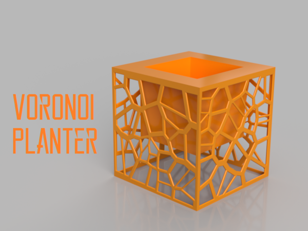 Medium Voronoi Planter 3D Printing 185490