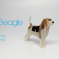 Small Beagle - Low Poly 3D Printing 185492