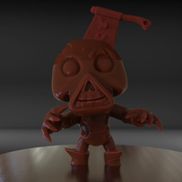 Small Stylized Zombie 3D Printing 185503