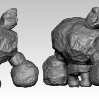 Small Stone Talus from Zelda Breath of the Wild 3D Printing 185511