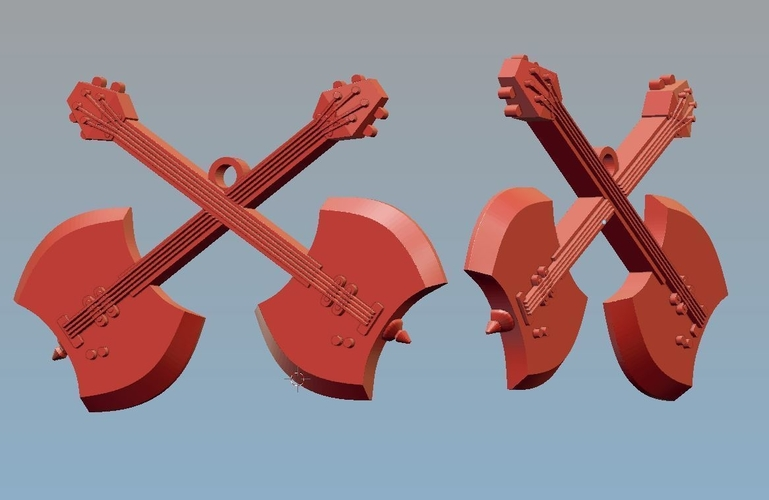 Adventure Time Medal Guitar 3D Print 185529