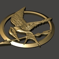 Small Mockingjay Medal 3D Printing 185533