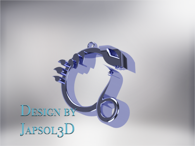 Dragon neck pendant 3D Print 185581