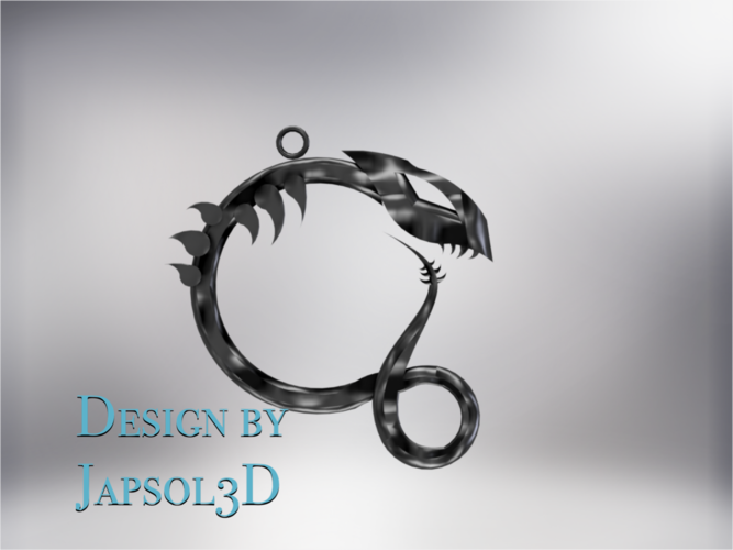 Dragon neck pendant 3D Print 185582