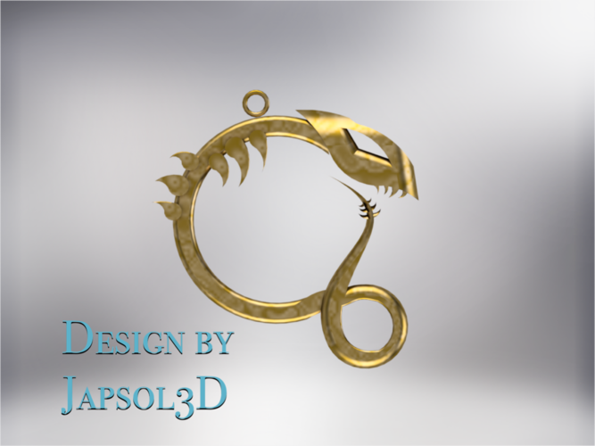 Dragon neck pendant 3D Print 185583