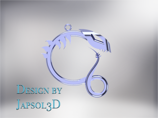 Dragon neck pendant 3D Print 185584