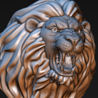 Small Lion head 3D Printing 185751