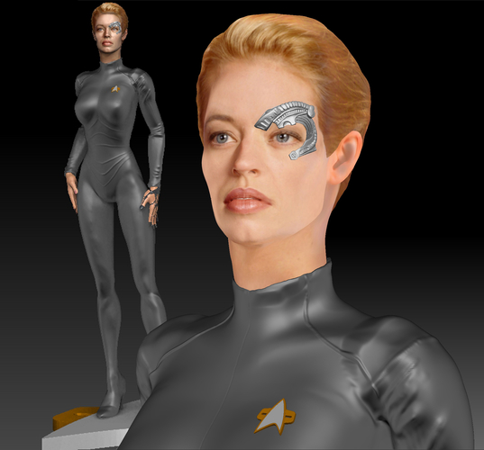 Star Trek Seven of Nine figurine. Jeri Ryan. 3D Print 185803