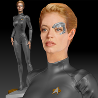 Small Star Trek Seven of Nine figurine. Jeri Ryan. 3D Printing 185803