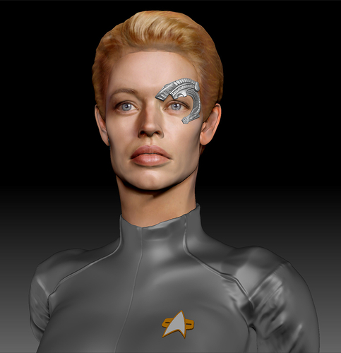 Star Trek Seven of Nine figurine. Jeri Ryan. 3D Print 185804