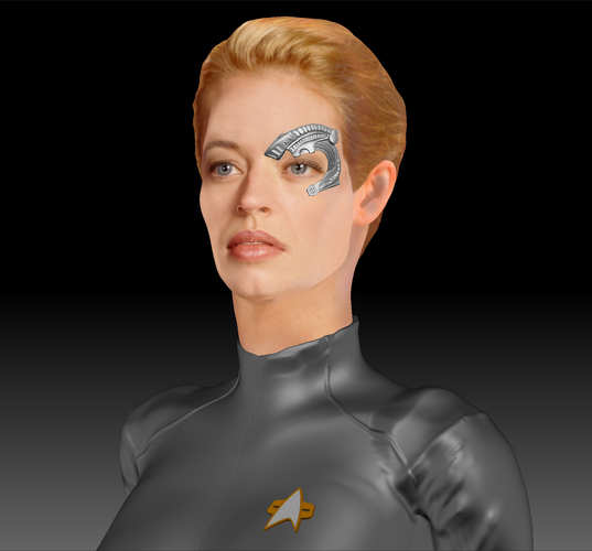 Star Trek Seven of Nine figurine. Jeri Ryan. 3D Print 185805