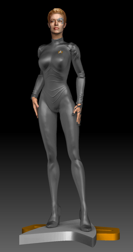 Star Trek Seven of Nine figurine. Jeri Ryan. 3D Print 185806