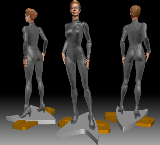 Star Trek Seven of Nine figurine. Jeri Ryan. 3D Print 185807
