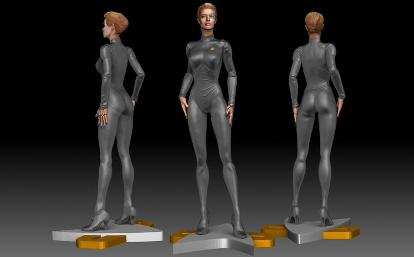 Star Trek Seven of Nine figurine. Jeri Ryan. 3D Print 185808