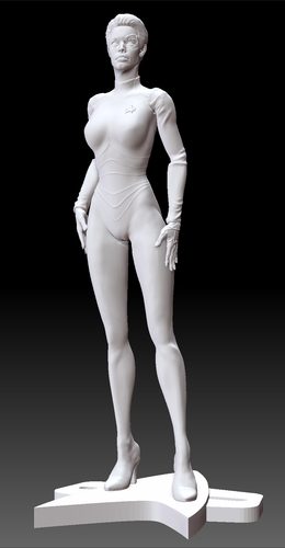 Star Trek Seven of Nine figurine. Jeri Ryan. 3D Print 185809