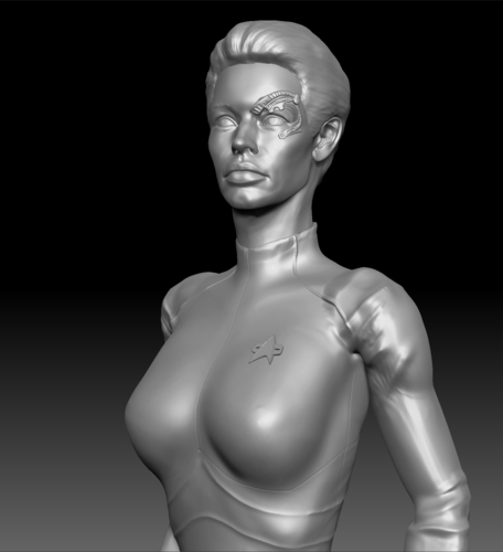 Star Trek Seven of Nine figurine. Jeri Ryan. 3D Print 185810