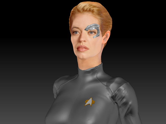 Star Trek Seven of Nine figurine. Jeri Ryan. 3D Print 185815