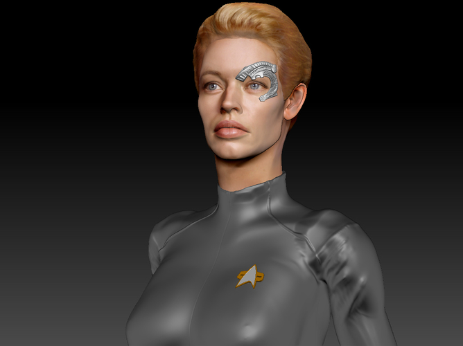 Star Trek Seven of Nine figurine. Jeri Ryan. 3D Print 185816