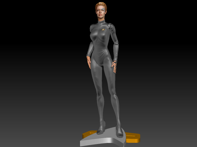Star Trek Seven of Nine figurine. Jeri Ryan. 3D Print 185821
