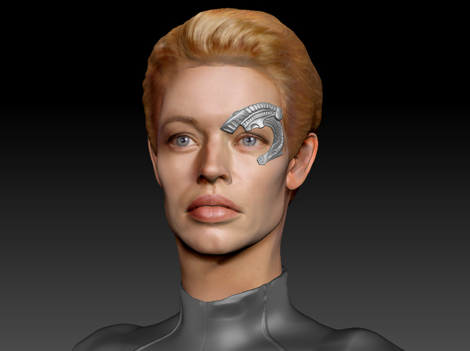 Star Trek Seven of Nine figurine. Jeri Ryan. 3D Print 185822