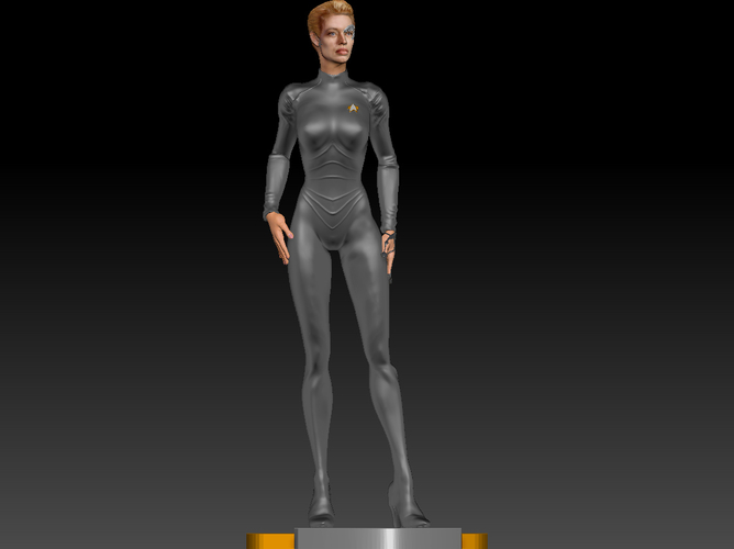 Star Trek Seven of Nine figurine. Jeri Ryan. 3D Print 185823