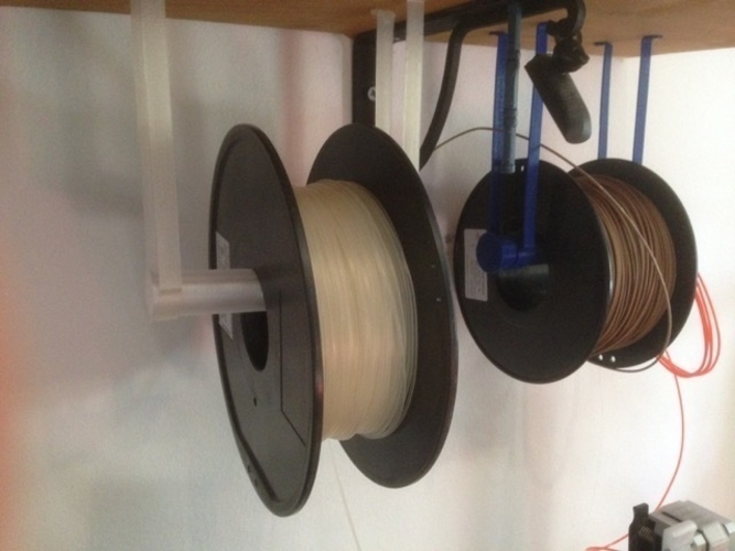 spool support suspended from the shelf 3D Print 185869